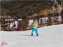 山东济南寒冷冬日 滑雪场上的激情无限