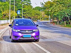 迷人的电光紫超跑GK5 优雅而又魅惑