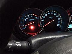老款骐达仪表盘换LED灯 橘色改成蓝